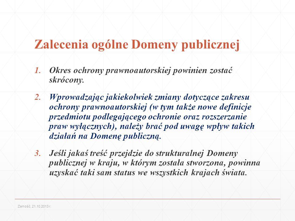 Zalecenia ogólne Domeny publicznej