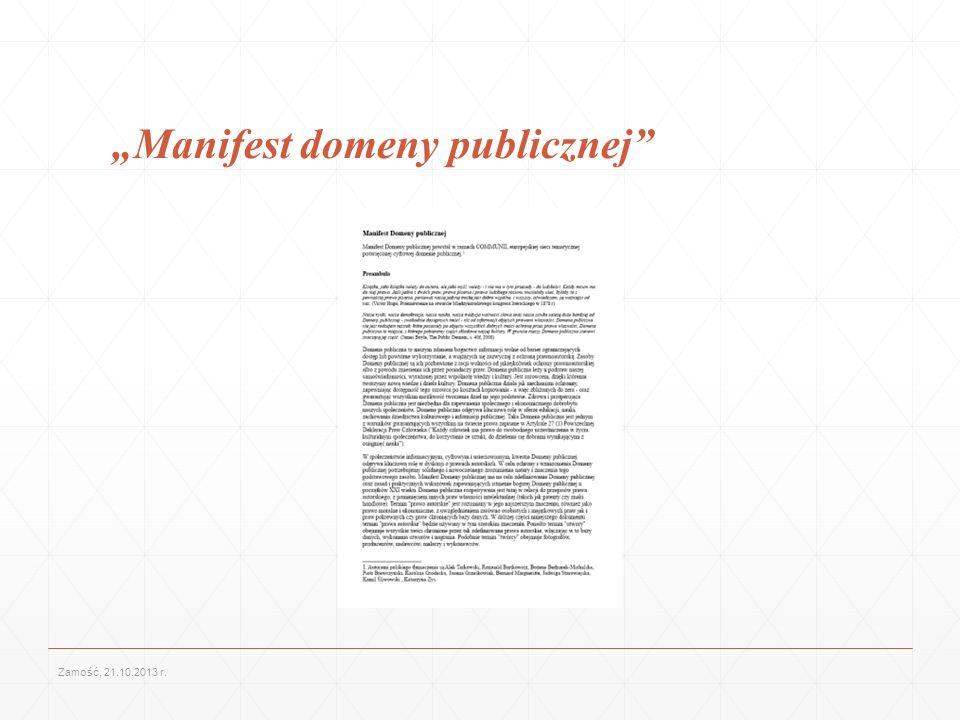 """""""Manifest domeny publicznej"""