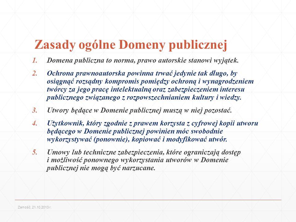 Zasady ogólne Domeny publicznej