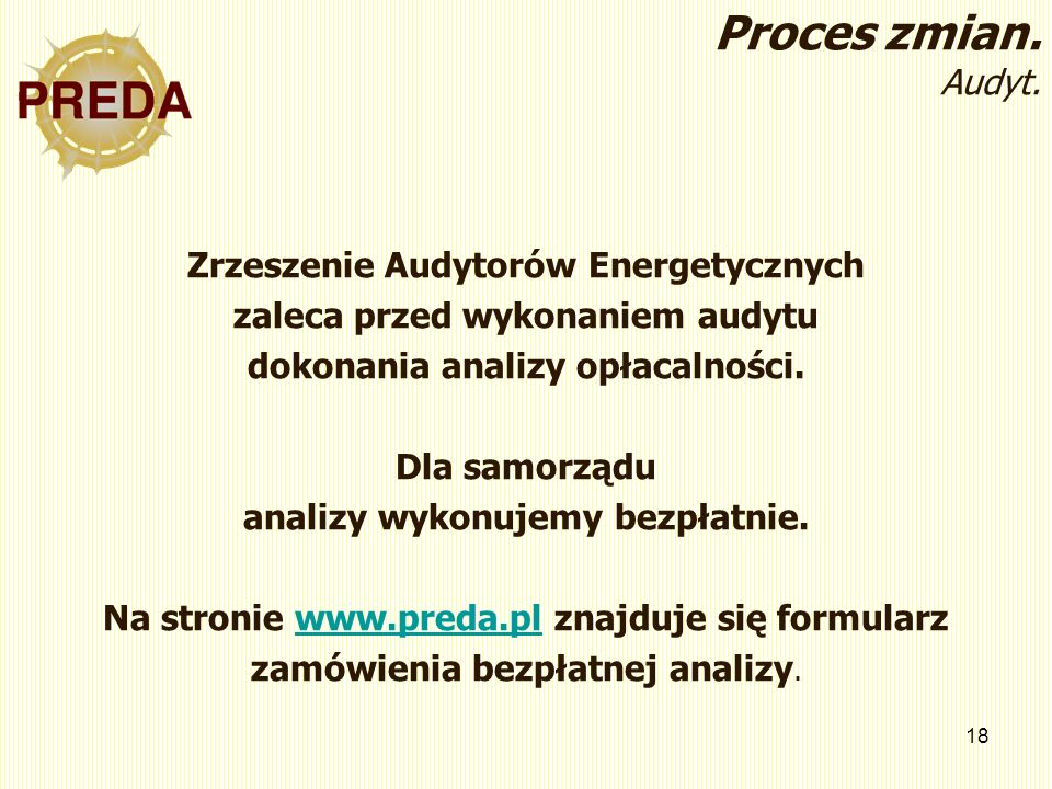 Proces zmian. Audyt. Zrzeszenie Audytorów Energetycznych