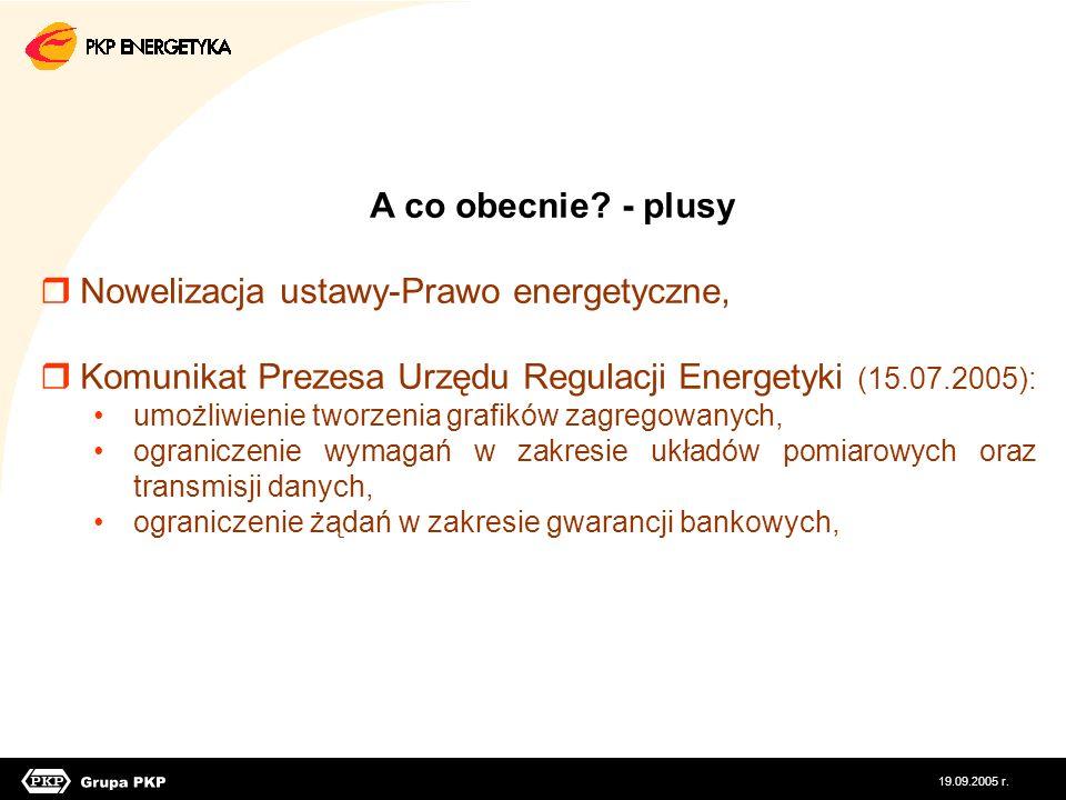 Nowelizacja ustawy-Prawo energetyczne,