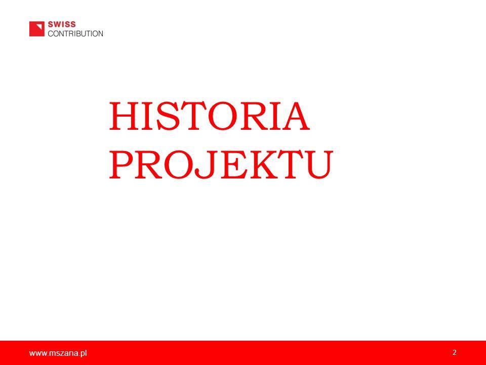 HISTORIA PROJEKTU www.mszana.pl 2