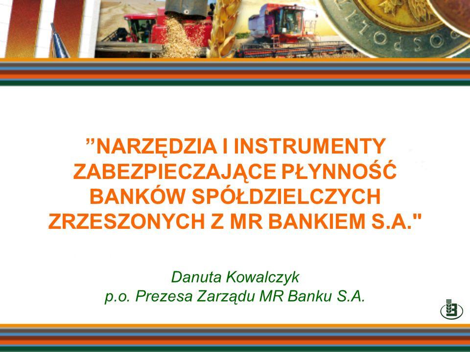 p.o. Prezesa Zarządu MR Banku S.A.