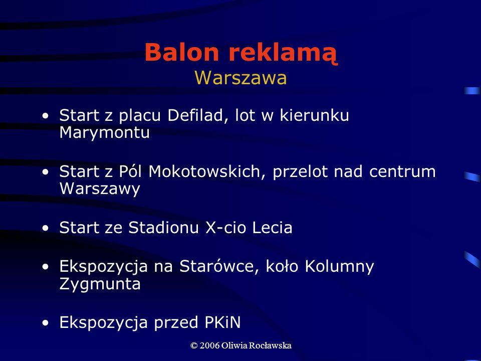 Balon reklamą Warszawa