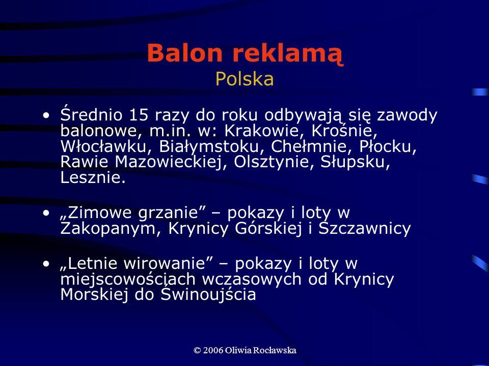 Balon reklamą Polska