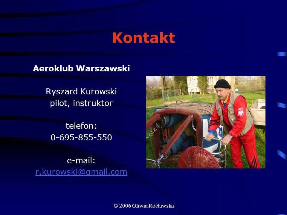 Kontakt Aeroklub Warszawski Ryszard Kurowski pilot, instruktor