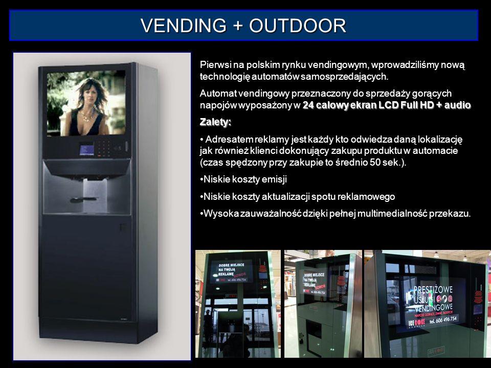 VENDING + OUTDOOR Pierwsi na polskim rynku vendingowym, wprowadziliśmy nową technologię automatów samosprzedających.