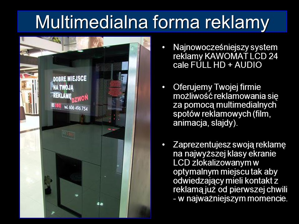 Multimedialna forma reklamy