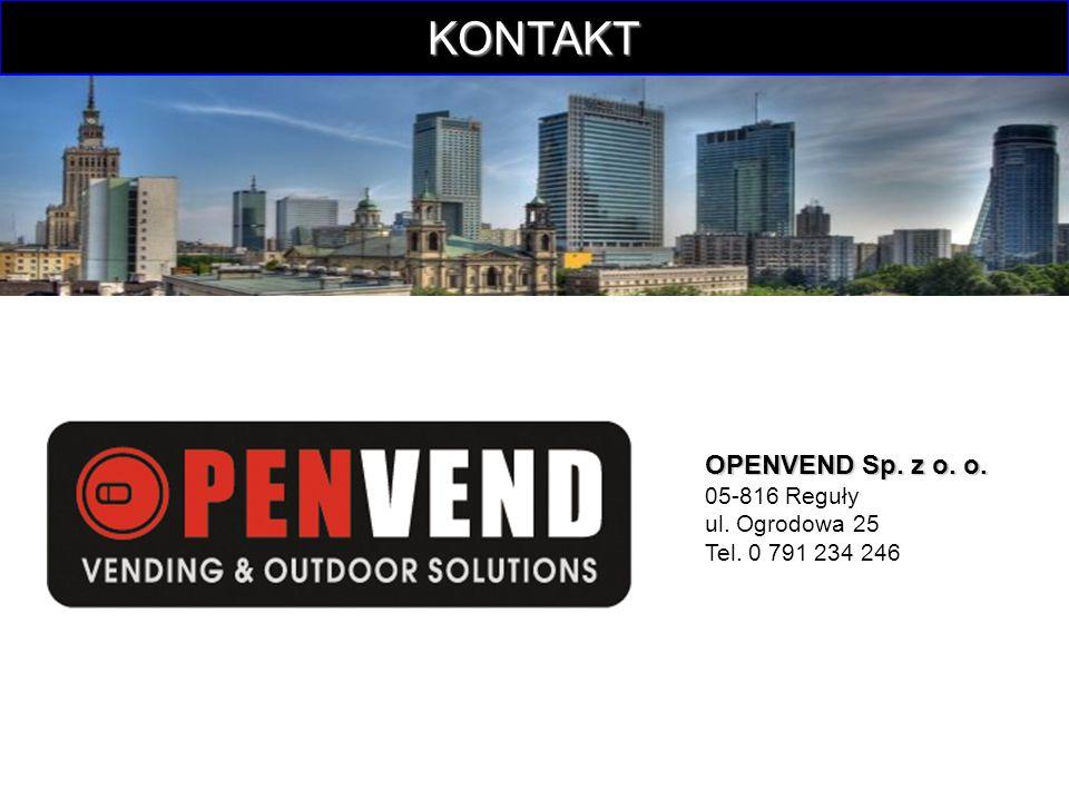 KONTAKT OPENVEND Sp. z o. o. 05-816 Reguły ul.
