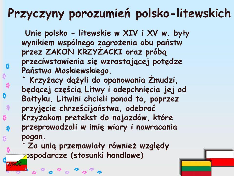 Przyczyny porozumień polsko-litewskich