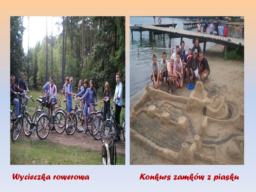 Wycieczka rowerowa Konkurs zamków z piasku