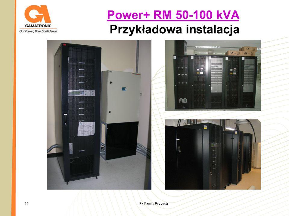 Power+ RM 50-100 kVA Przykładowa instalacja