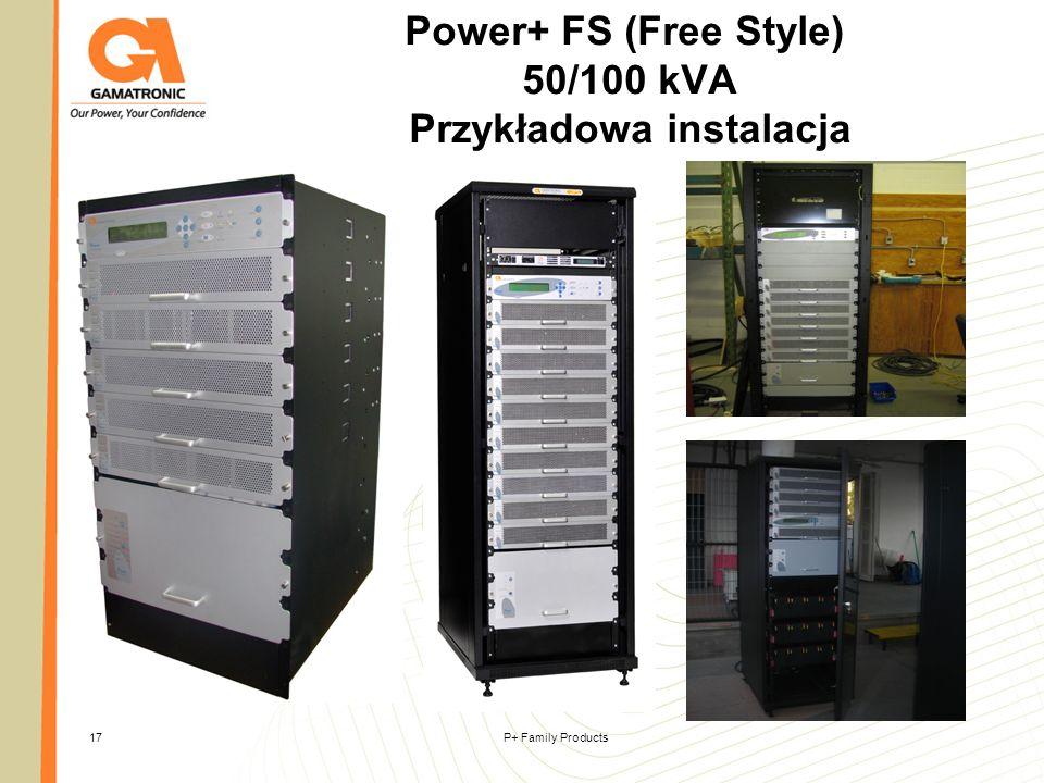 Power+ FS (Free Style) 50/100 kVA Przykładowa instalacja