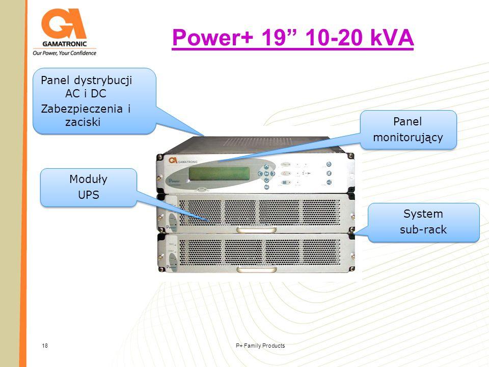 Power+ 19 10-20 kVA Panel dystrybucji AC i DC