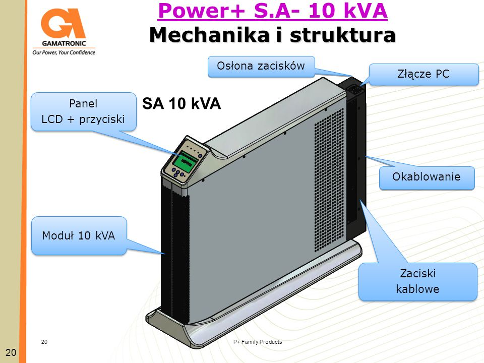 Power+ S.A- 10 kVA Mechanika i struktura