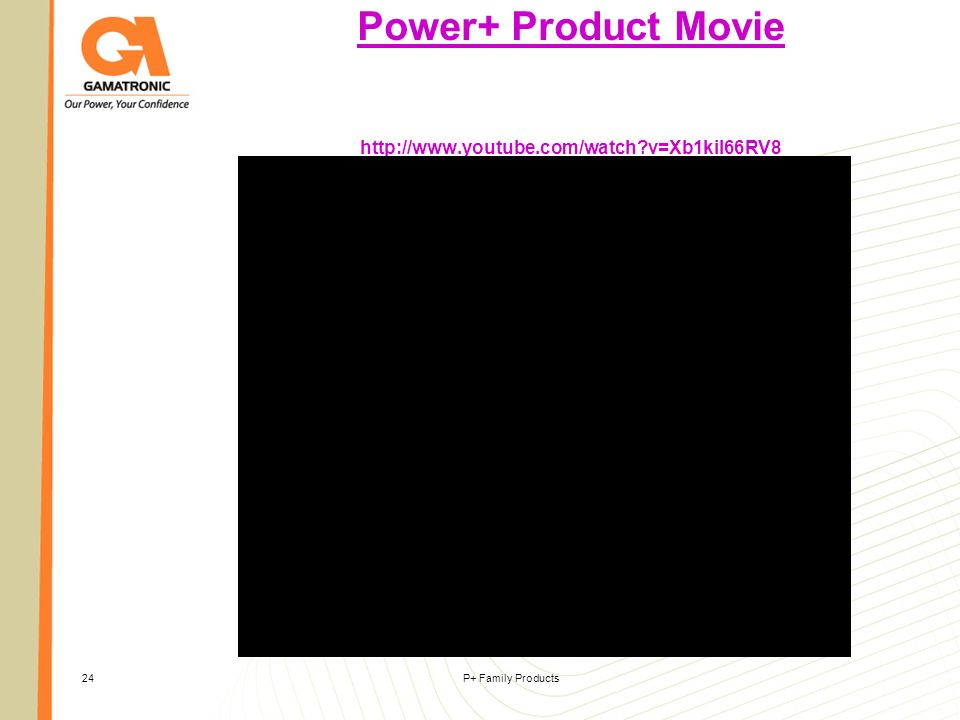 Power+ Product Movie http://www.youtube.com/watch v=Xb1kiI66RV8