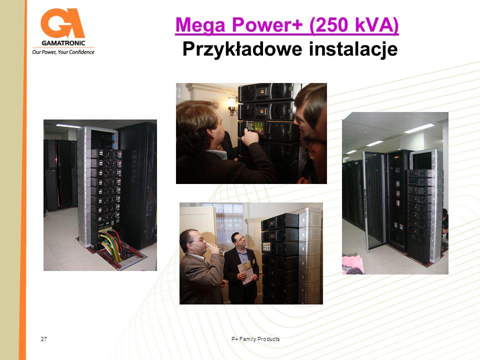 Mega Power+ (250 kVA) Przykładowe instalacje