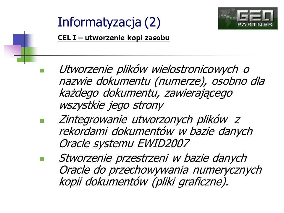 Informatyzacja (2) CEL I – utworzenie kopi zasobu.