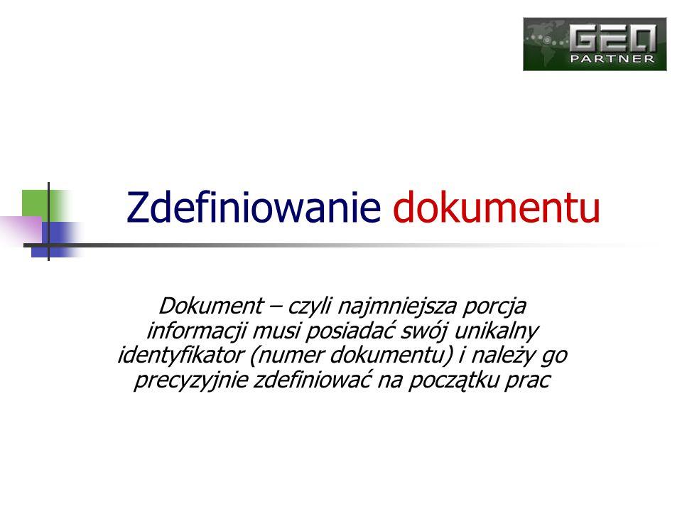 Zdefiniowanie dokumentu