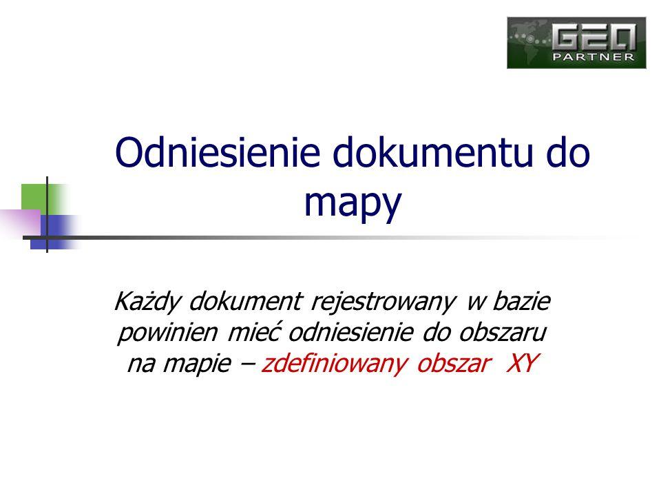 Odniesienie dokumentu do mapy