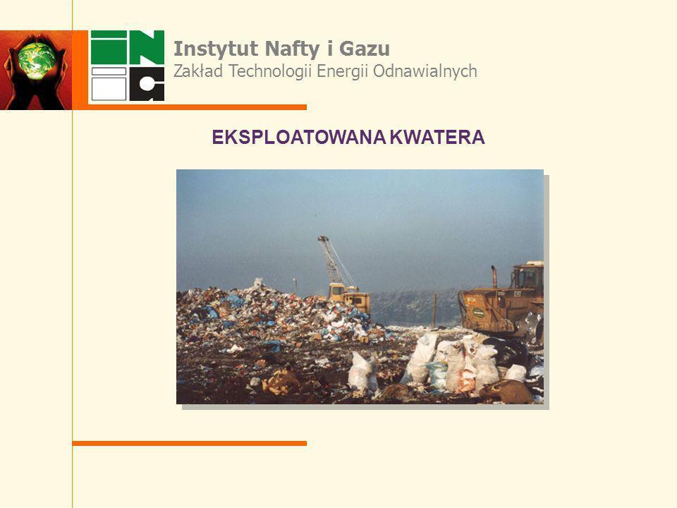 Instytut Nafty i Gazu EKSPLOATOWANA KWATERA