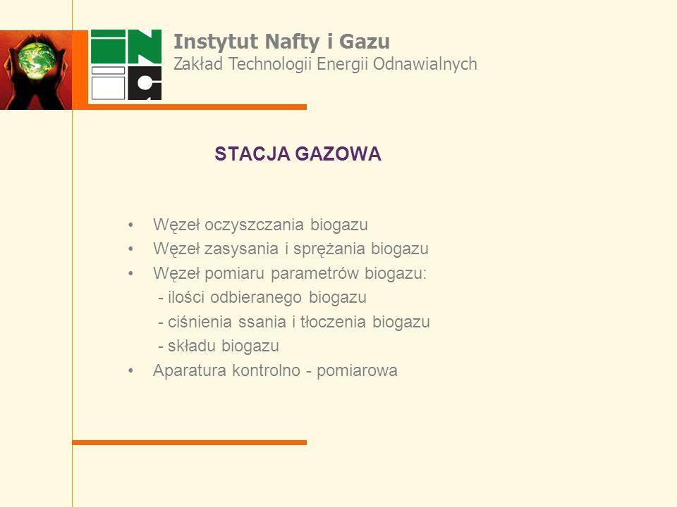 STACJA GAZOWA Instytut Nafty i Gazu
