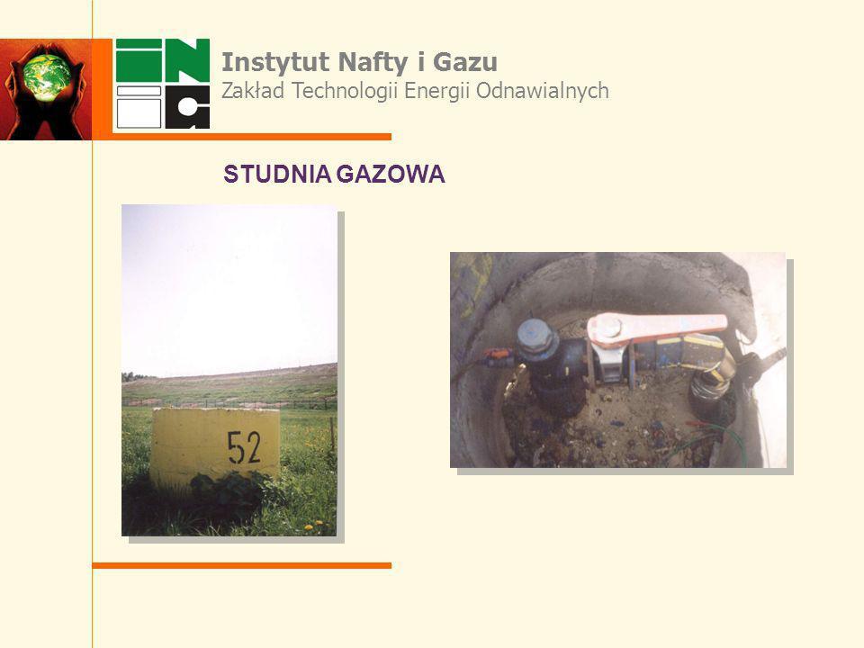 Instytut Nafty i Gazu STUDNIA GAZOWA