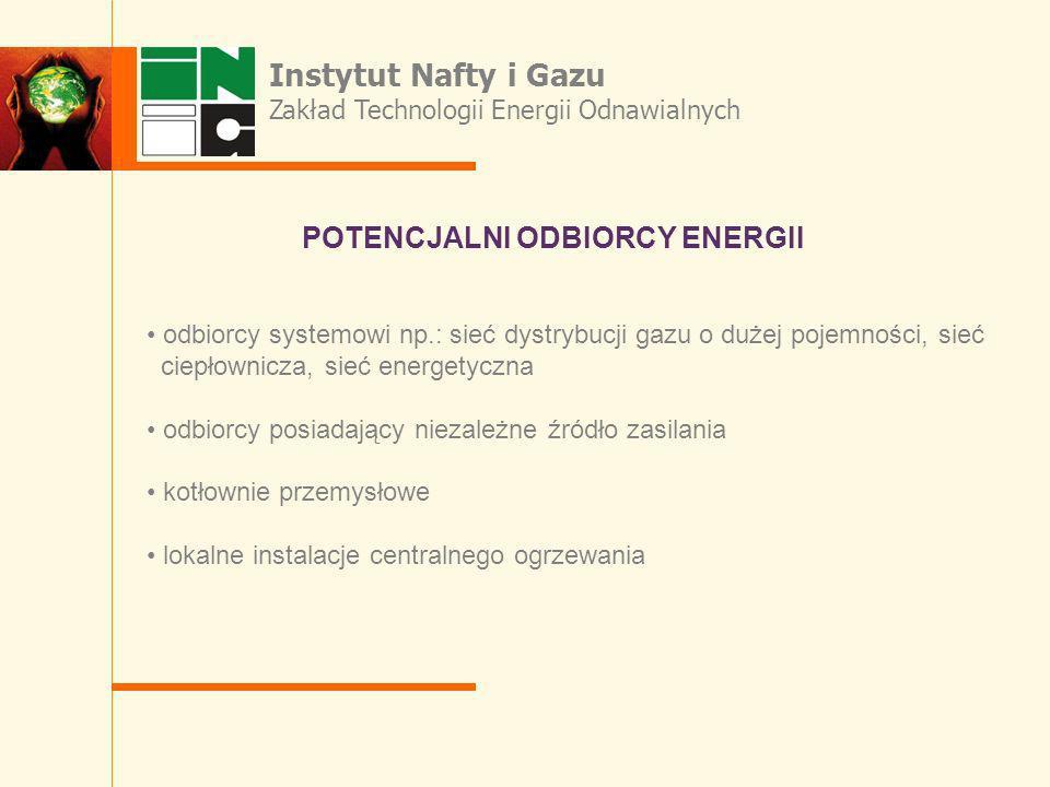 Instytut Nafty i Gazu POTENCJALNI ODBIORCY ENERGII