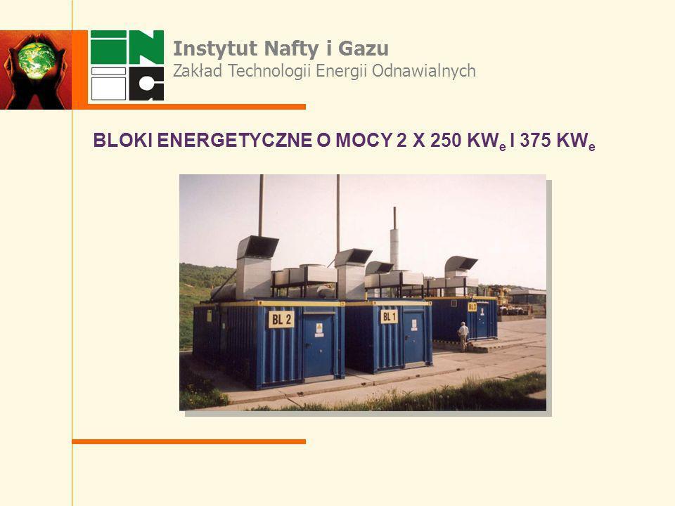 BLOKI ENERGETYCZNE O MOCY 2 X 250 KWe I 375 KWe