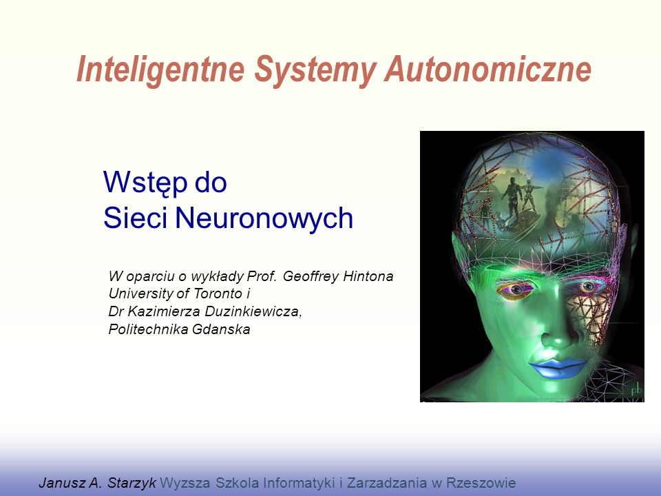 Wstęp do Sieci Neuronowych