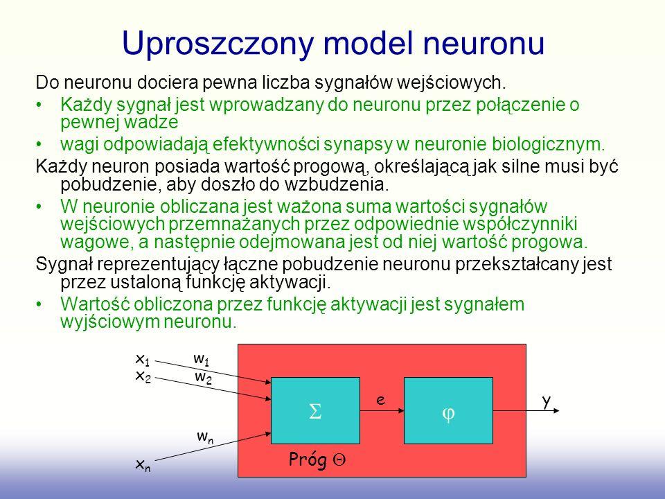Uproszczony model neuronu