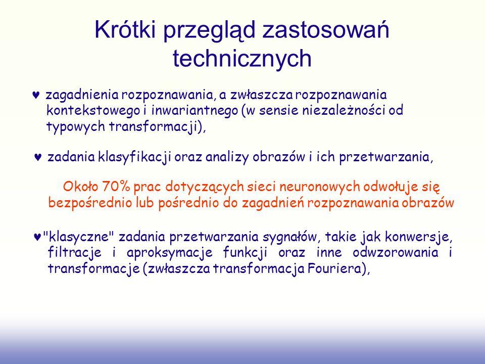 Krótki przegląd zastosowań technicznych