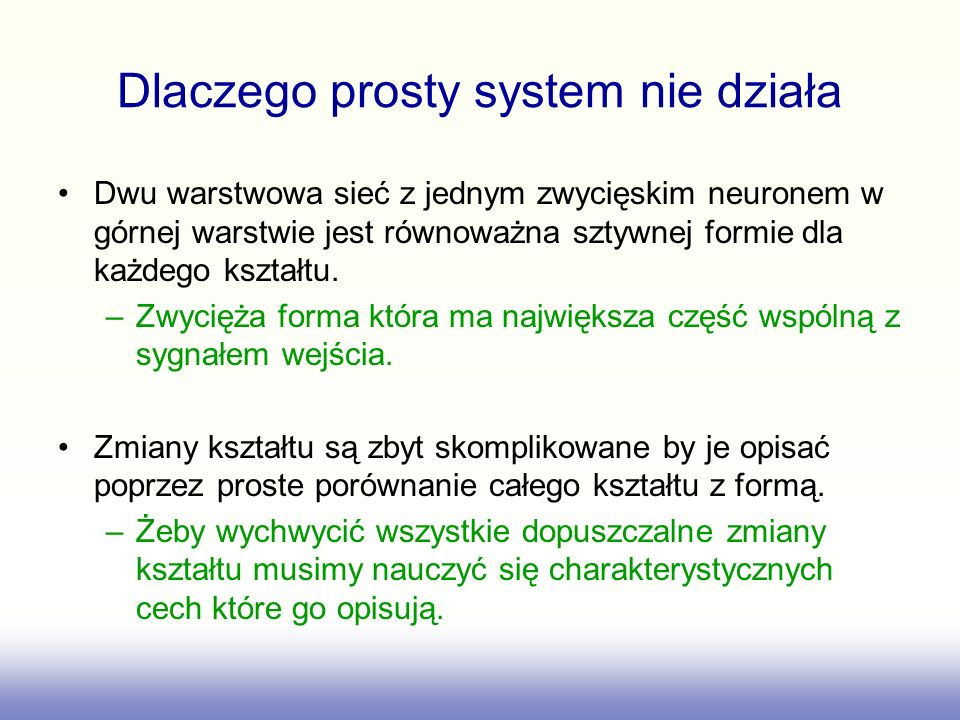 Dlaczego prosty system nie działa