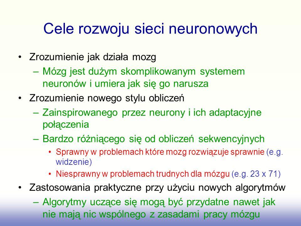 Cele rozwoju sieci neuronowych