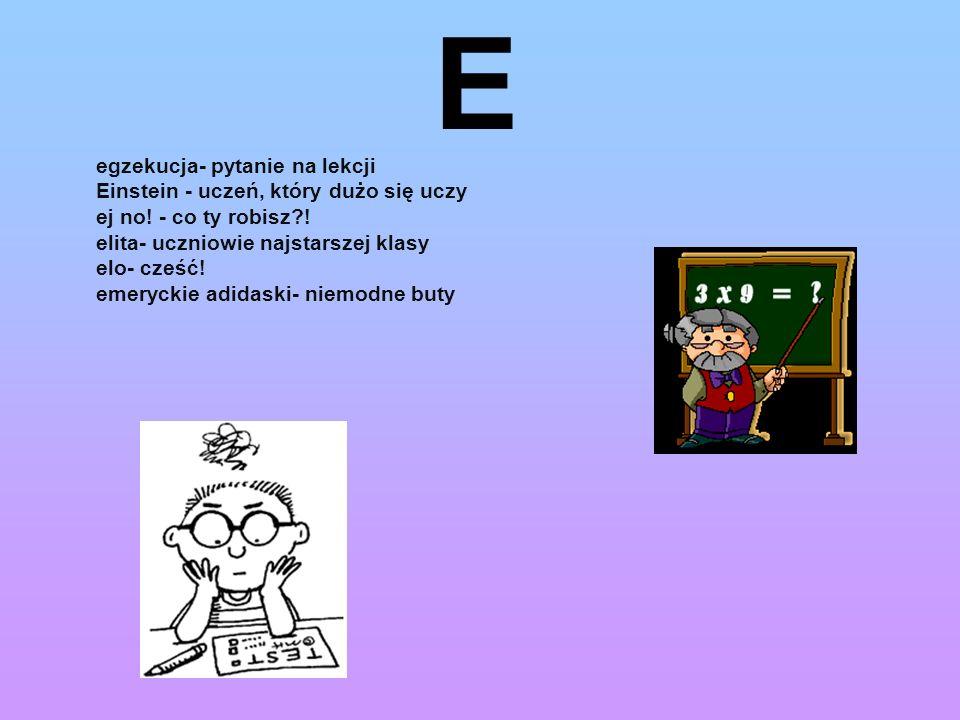 E egzekucja- pytanie na lekcji Einstein - uczeń, który dużo się uczy