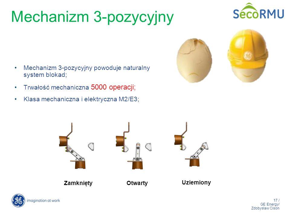 Mechanizm 3-pozycyjny Mechanizm 3-pozycyjny powoduje naturalny system blokad; Trwałość mechaniczna 5000 operacji;