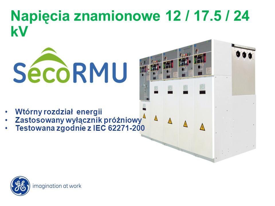 Napięcia znamionowe 12 / 17.5 / 24 kV
