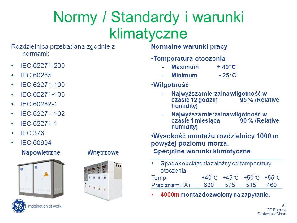 Normy / Standardy i warunki klimatyczne