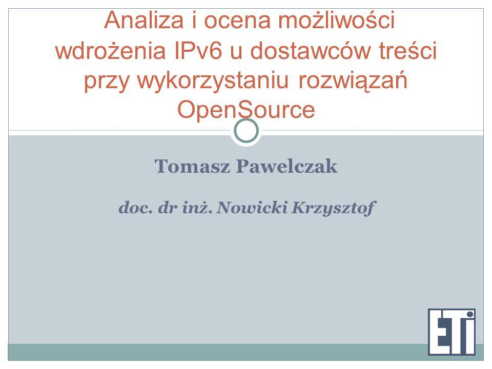 doc. dr inż. Nowicki Krzysztof