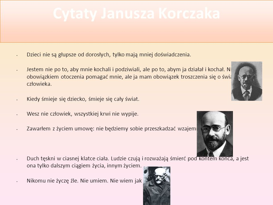 Cytaty Janusza Korczaka