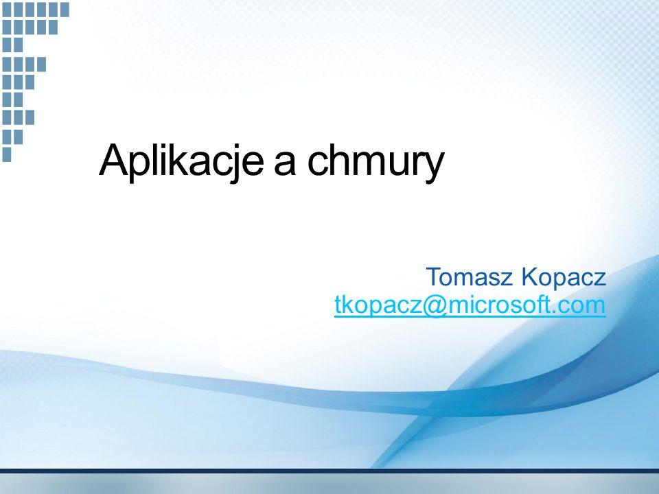 Tomasz Kopacz tkopacz@microsoft.com