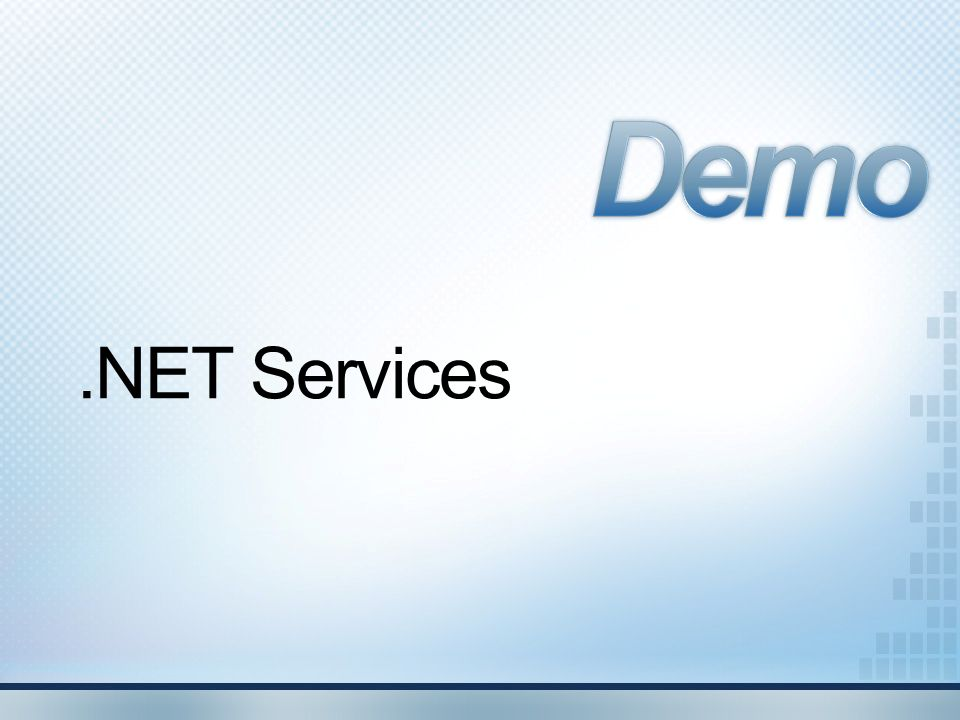 Demo .NET Services
