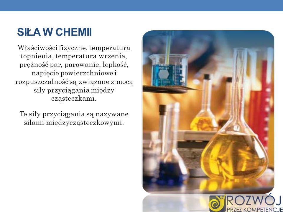 Siła w chemii