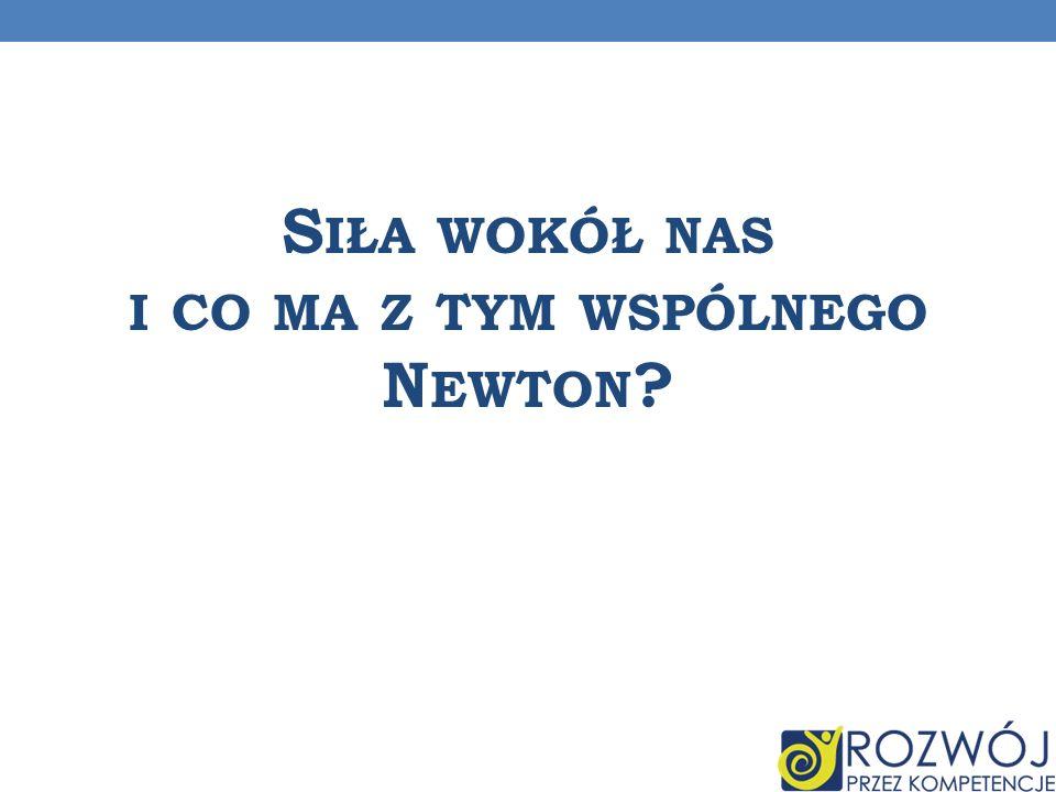 Siła wokół nas i co ma z tym wspólnego Newton