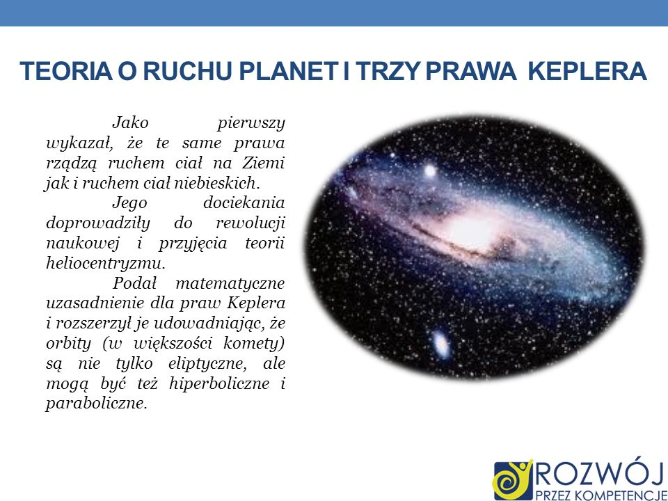 Teoria o ruchu planet i Trzy prawa Keplera