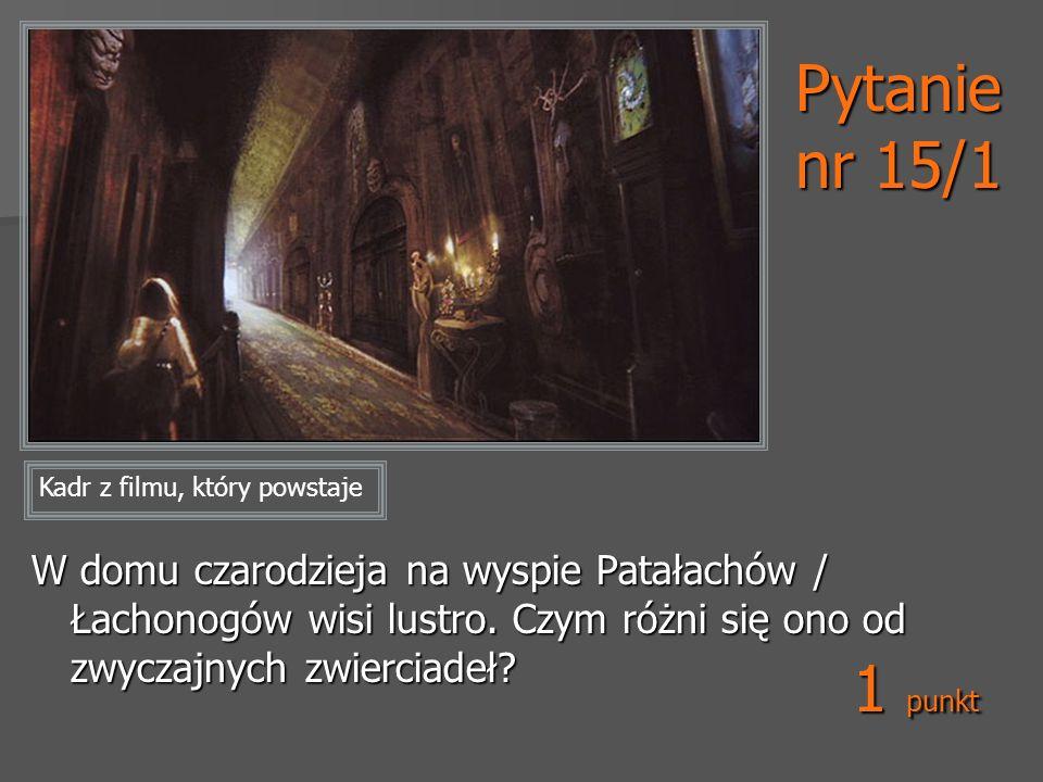 Pytanie nr 15/1 Kadr z filmu, który powstaje.