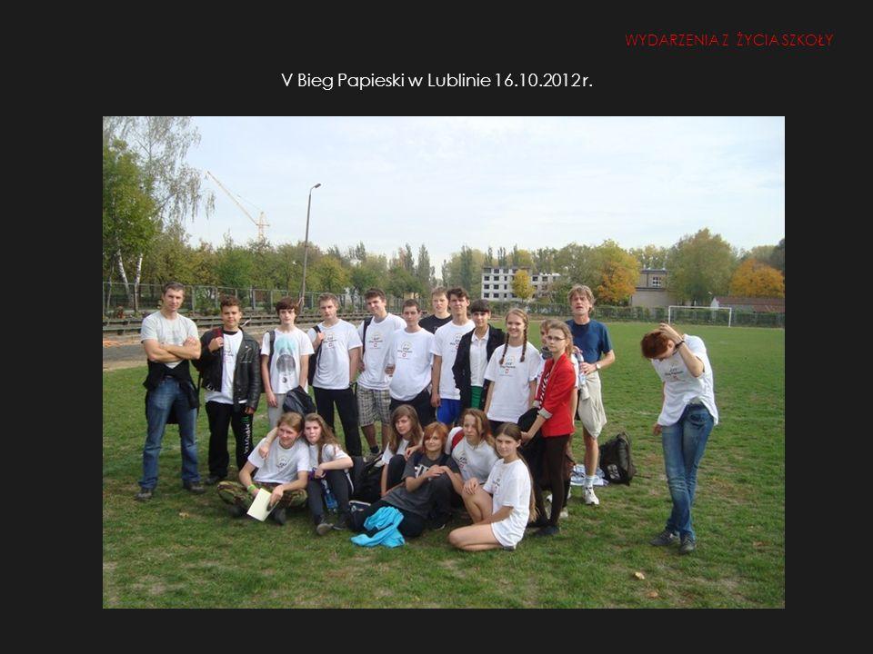 V Bieg Papieski w Lublinie 16.10.2012 r.