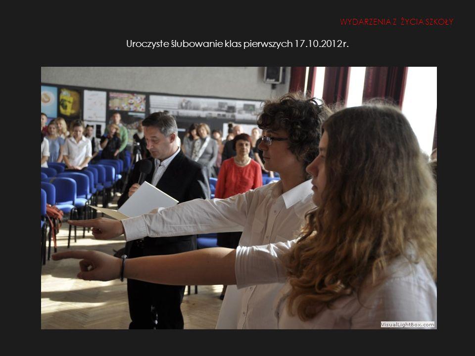 Uroczyste ślubowanie klas pierwszych 17.10.2012 r.