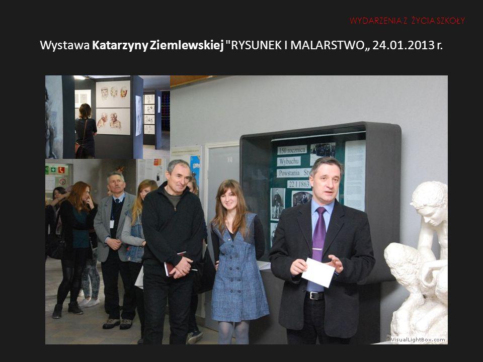 """Wystawa Katarzyny Ziemlewskiej RYSUNEK I MALARSTWO"""" 24.01.2013 r."""