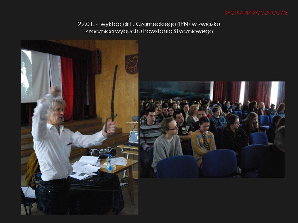 SPOTKANIA ROCZNICOWE 22.01. - wykład dr L.
